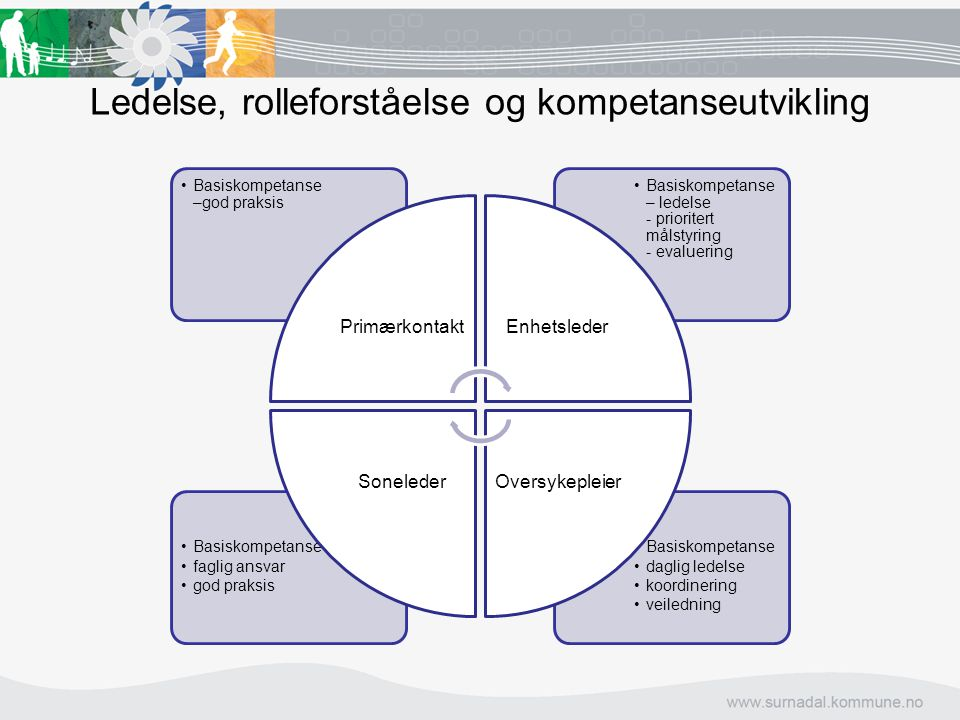Ledelse, rolleforståelse og kompetanseutvikling