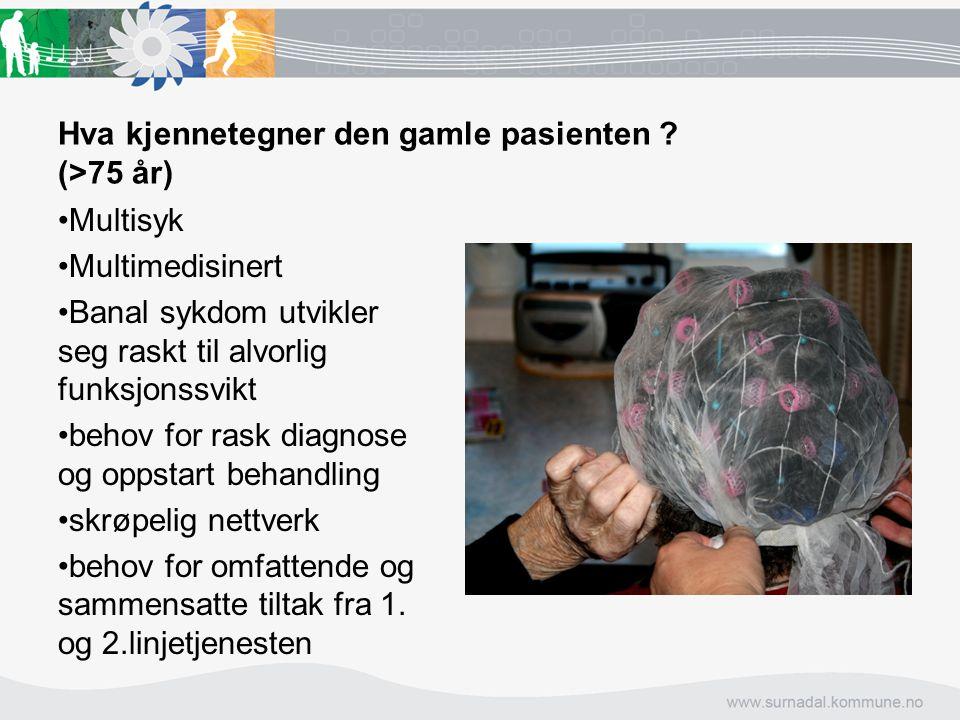 Hva kjennetegner den gamle pasienten (>75 år)