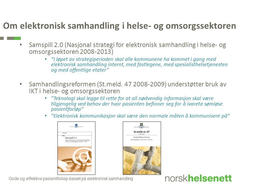 Om elektronisk samhandling i helse- og omsorgssektoren