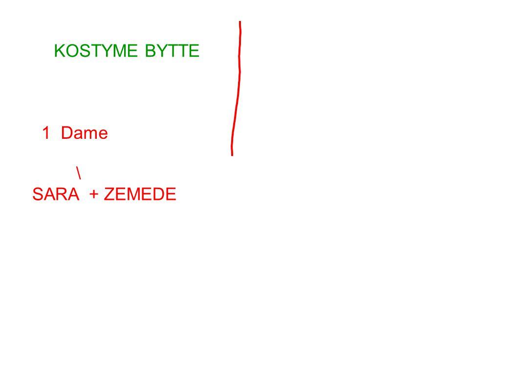 KOSTYME BYTTE 1 Dame \ SARA + ZEMEDE