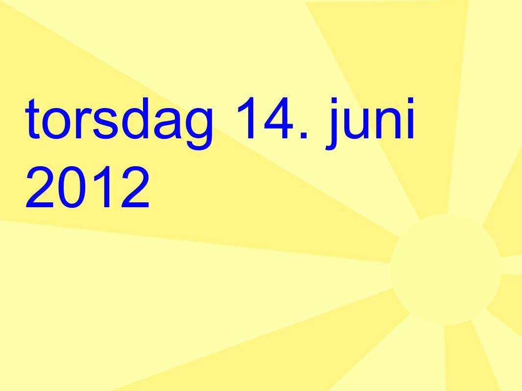 torsdag 14. juni 2012