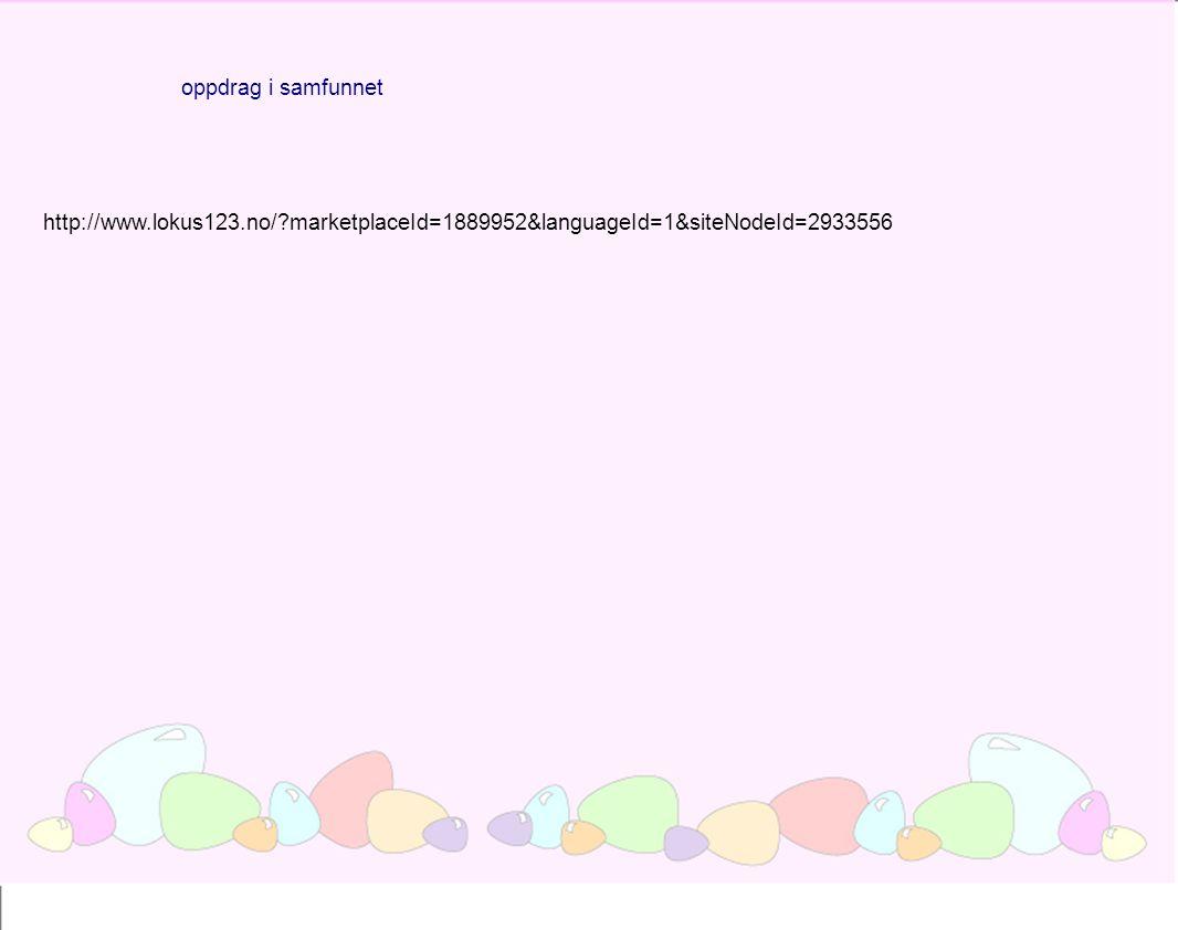 oppdrag i samfunnet http://www.lokus123.no/ marketplaceId=1889952&languageId=1&siteNodeId=2933556