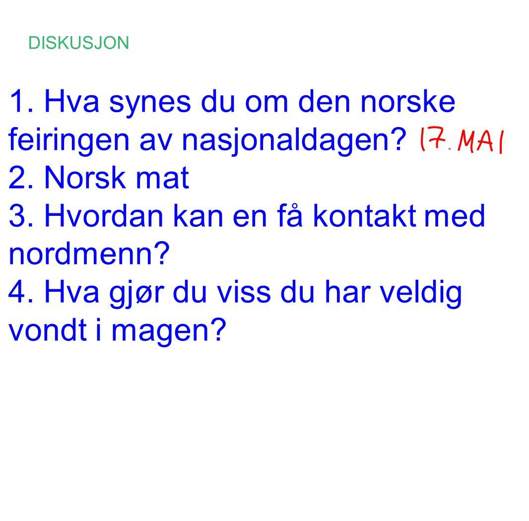 prat med nordmenn