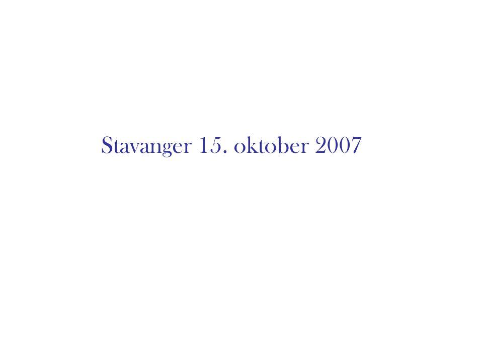 Stavanger 15. oktober 2007