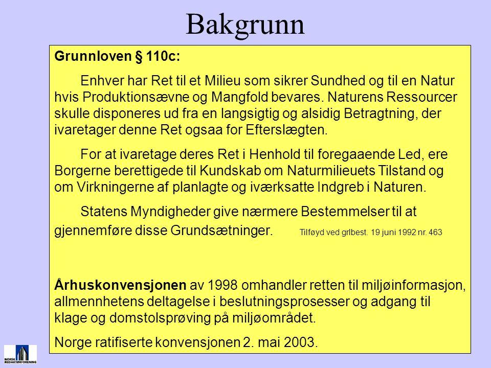 Bakgrunn Grunnloven § 110c: