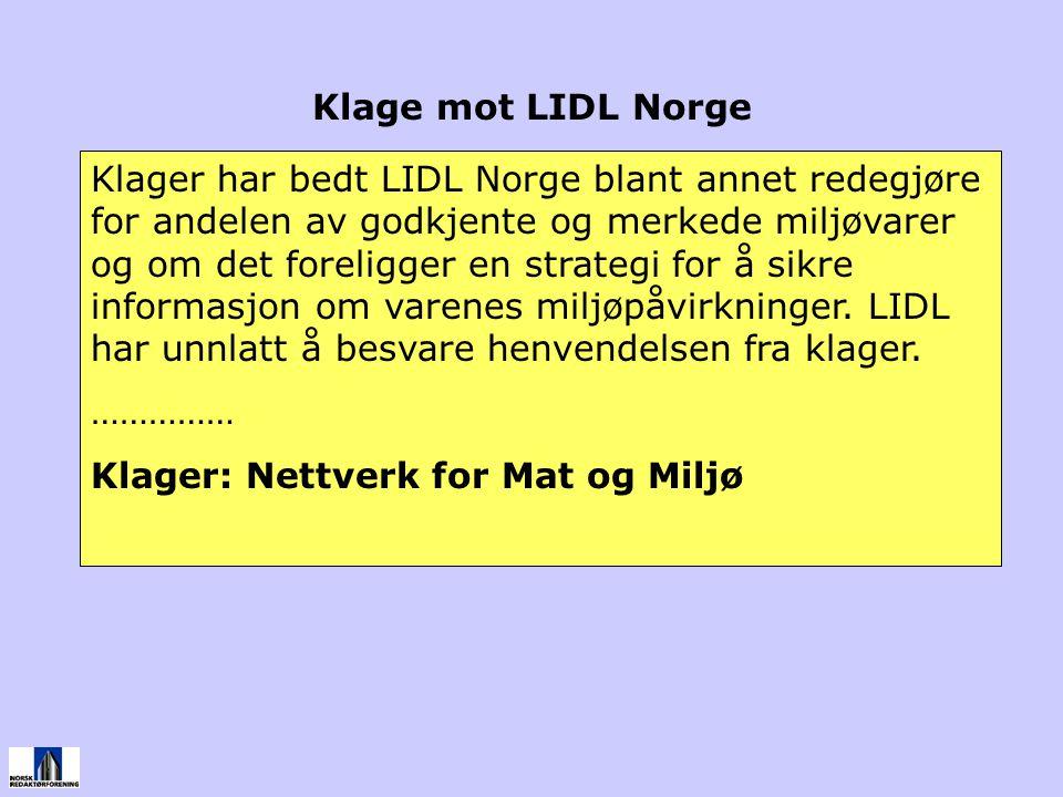 Klage mot LIDL Norge