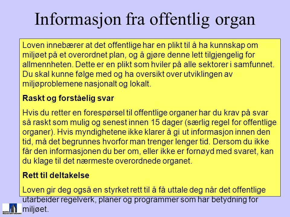 Informasjon fra offentlig organ