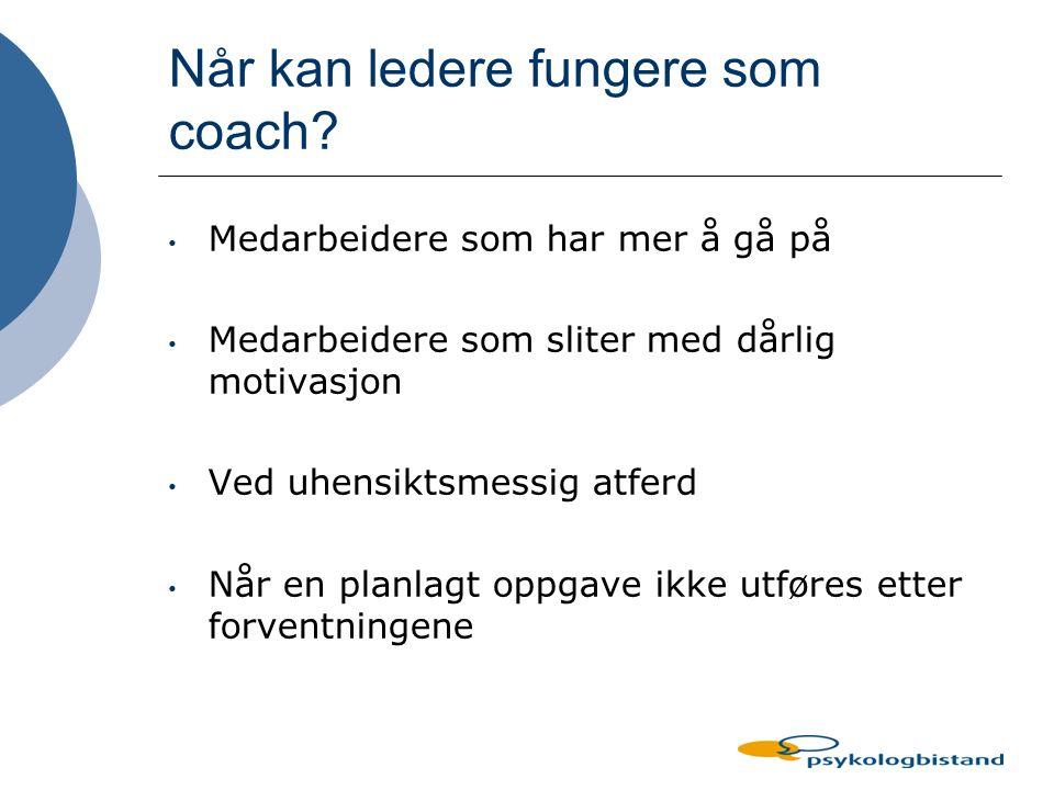 Når kan ledere fungere som coach
