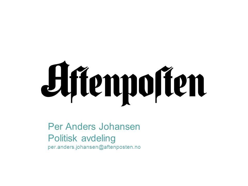 Per Anders Johansen Politisk avdeling per.anders.johansen@aftenposten.no