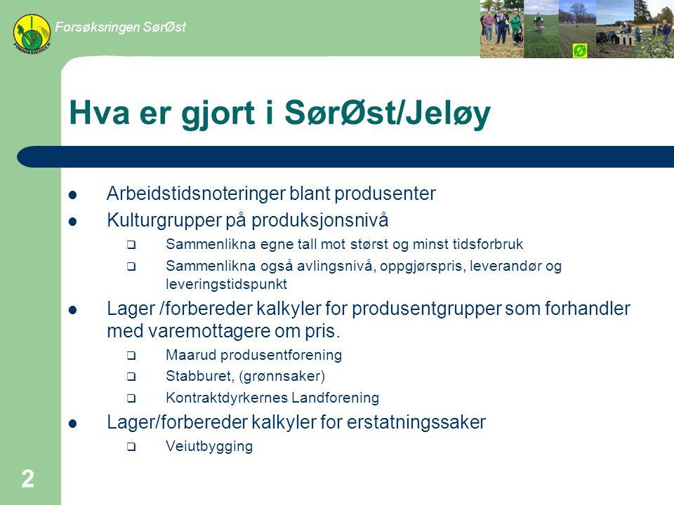 Hva er gjort i SørØst/Jeløy