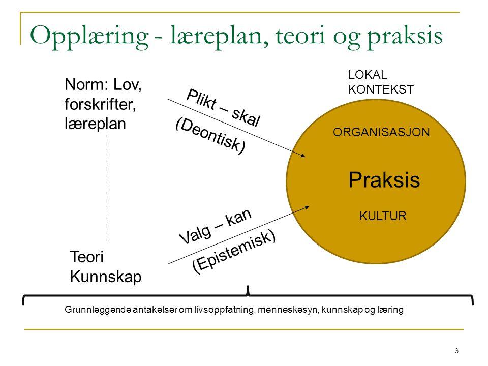 Opplæring - læreplan, teori og praksis