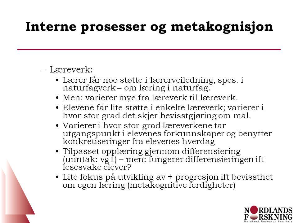 Interne prosesser og metakognisjon