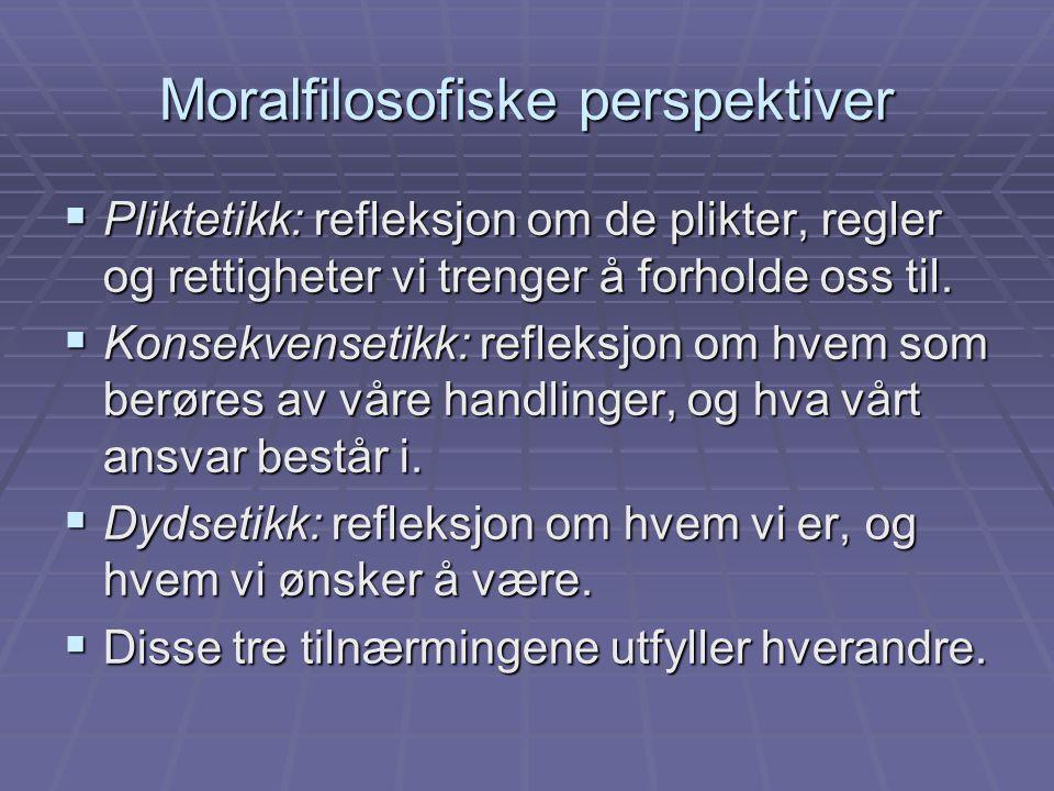 Moralfilosofiske perspektiver