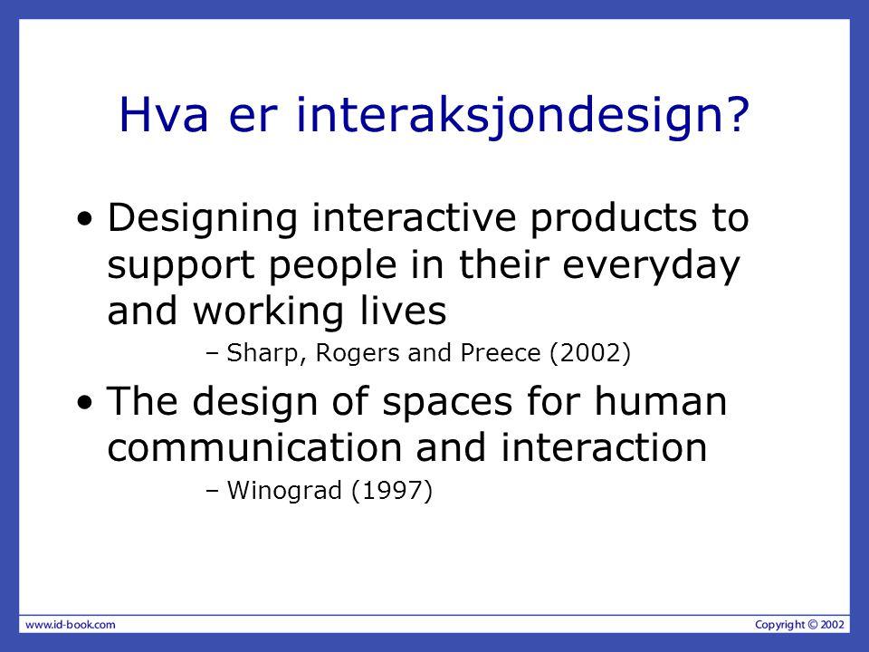 Hva er interaksjondesign