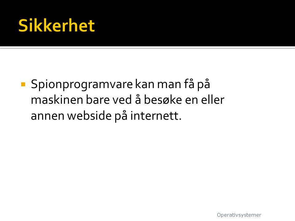 Sikkerhet Spionprogramvare kan man få på maskinen bare ved å besøke en eller annen webside på internett.