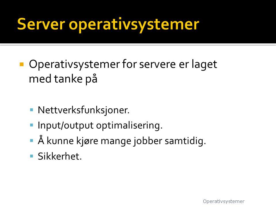 Server operativsystemer