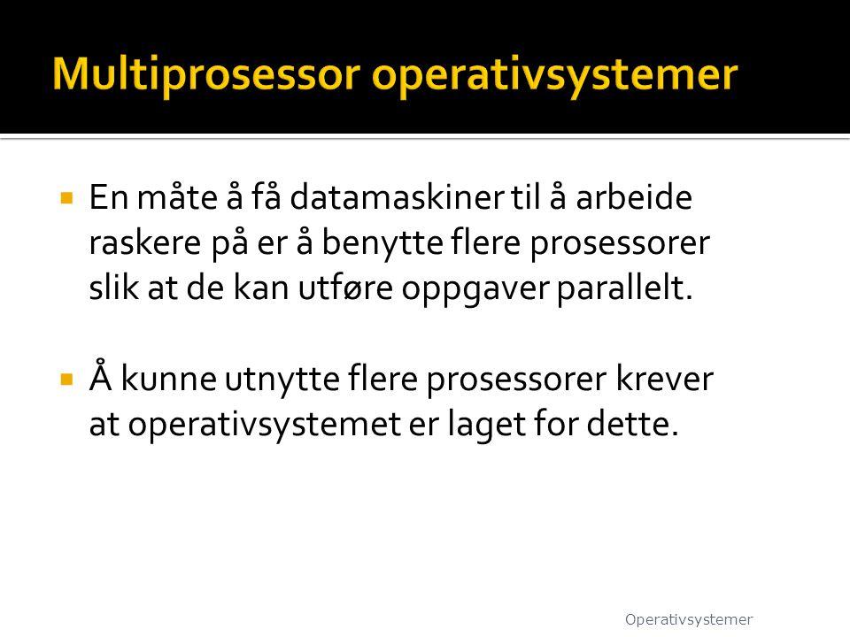 Multiprosessor operativsystemer