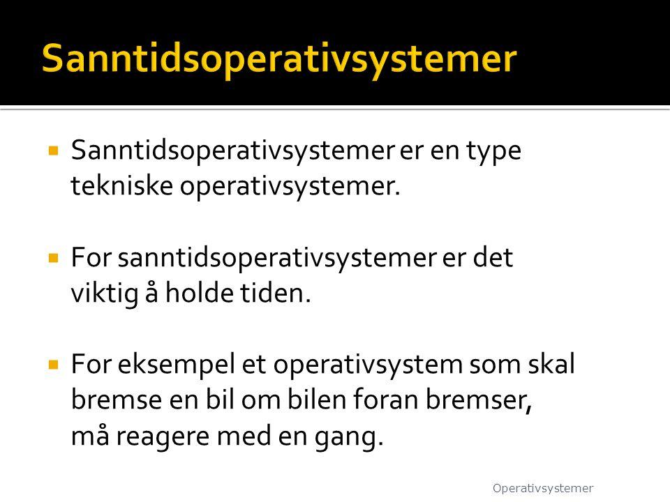 Sanntidsoperativsystemer