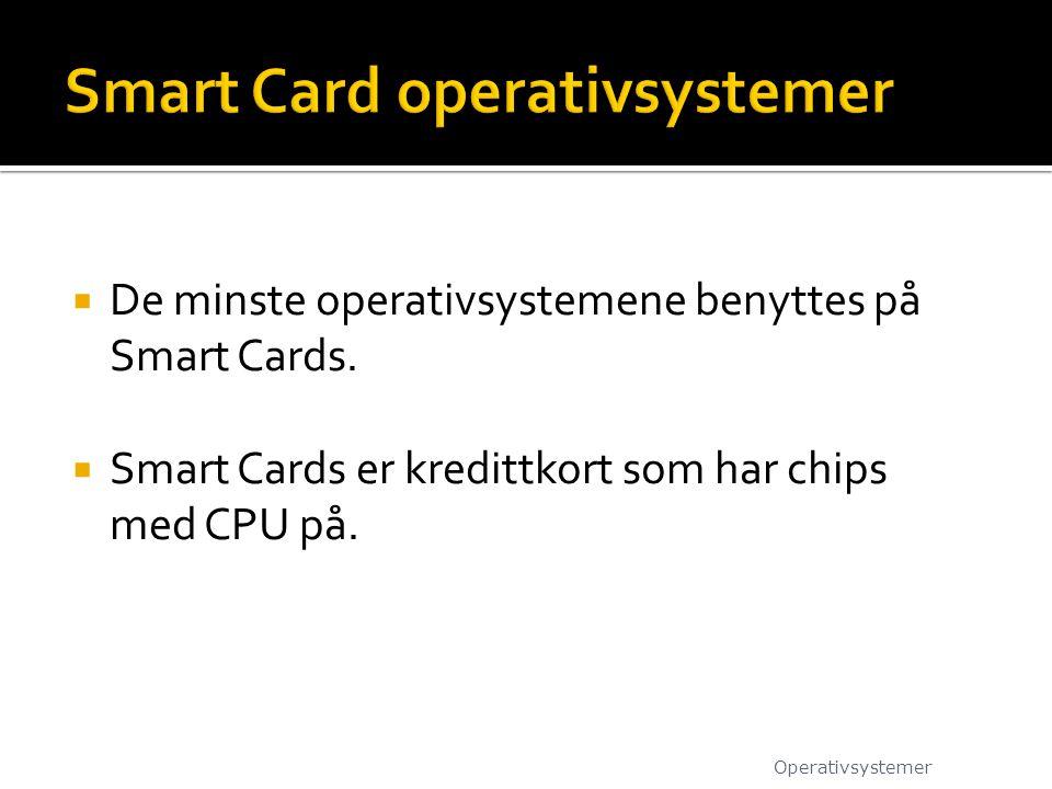 Smart Card operativsystemer