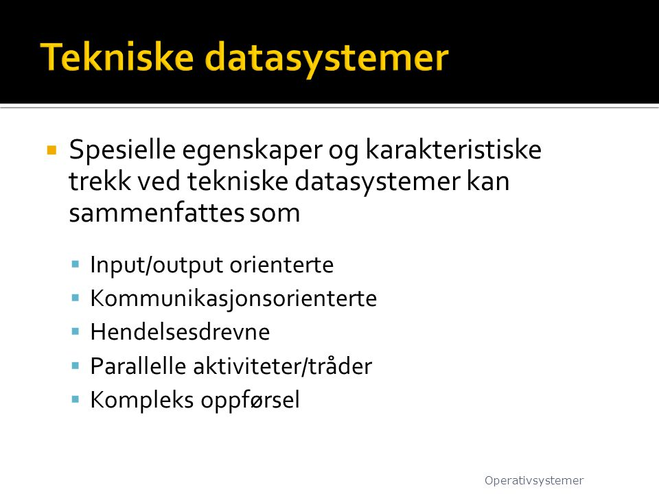 Tekniske datasystemer