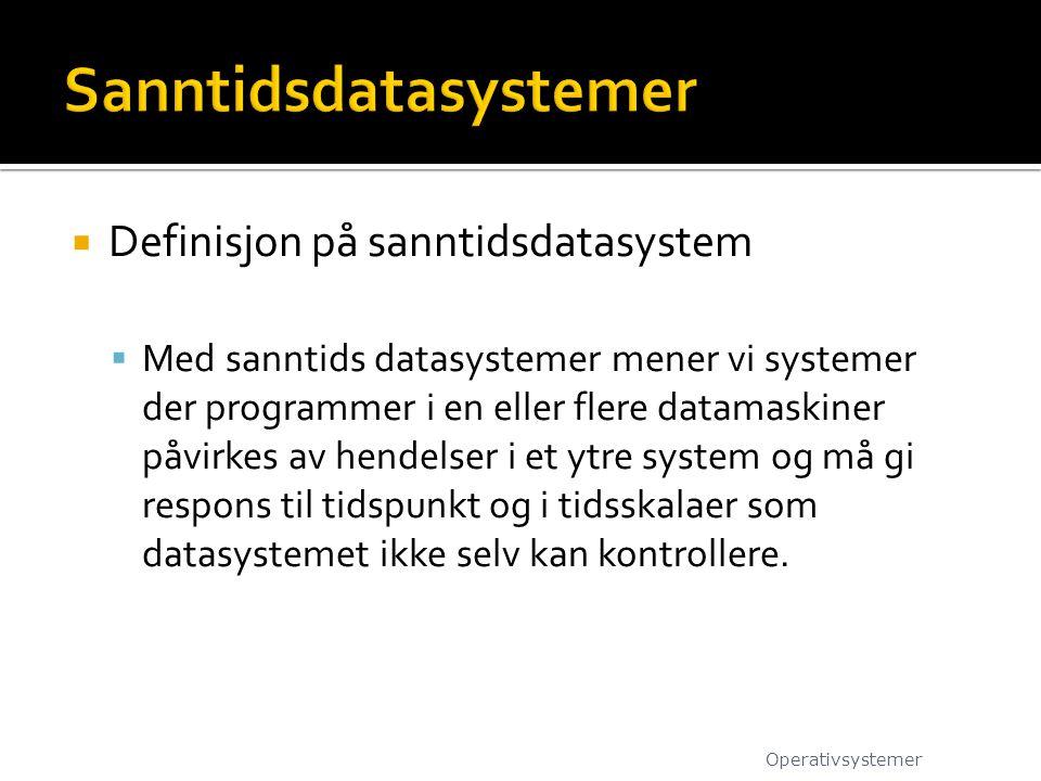 Sanntidsdatasystemer
