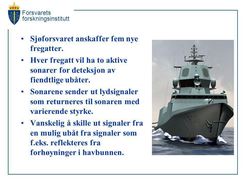 Sjøforsvaret anskaffer fem nye fregatter.