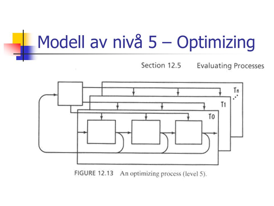 Modell av nivå 5 – Optimizing