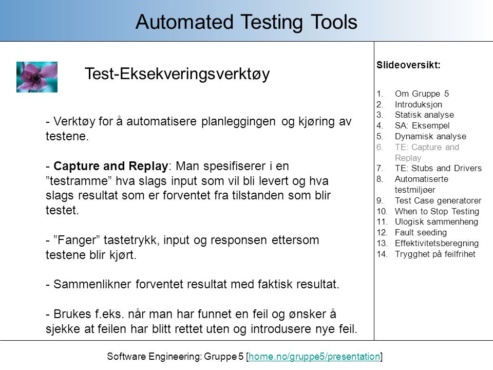 Automated Testing Tools