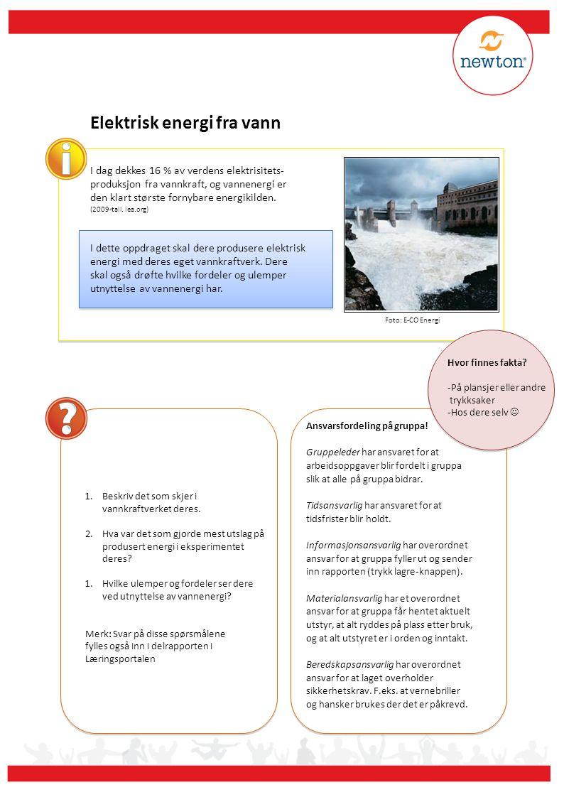 Elektrisk energi fra vann
