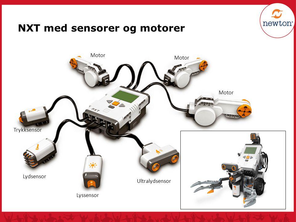 NXT med sensorer og motorer
