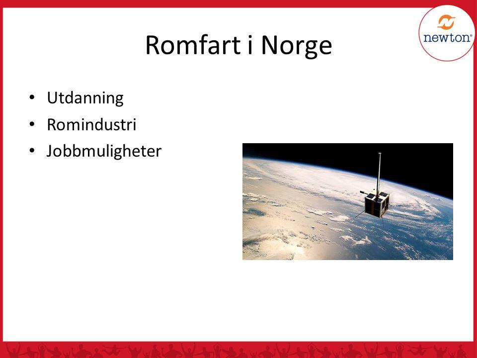 Romfart i Norge Utdanning Romindustri Jobbmuligheter