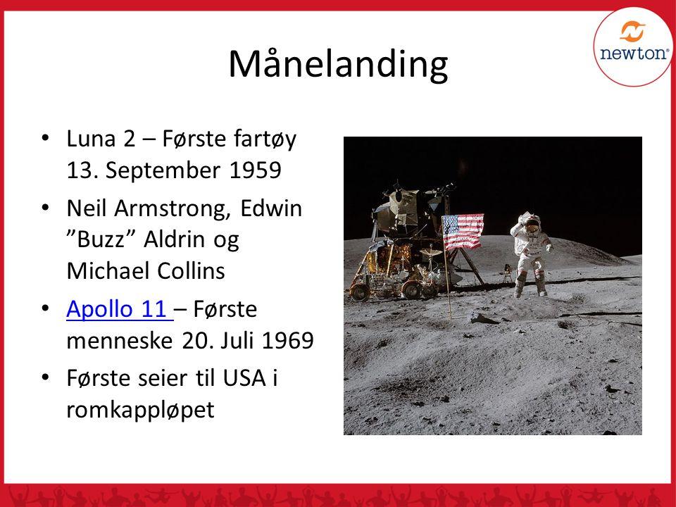 Månelanding Luna 2 – Første fartøy 13. September 1959