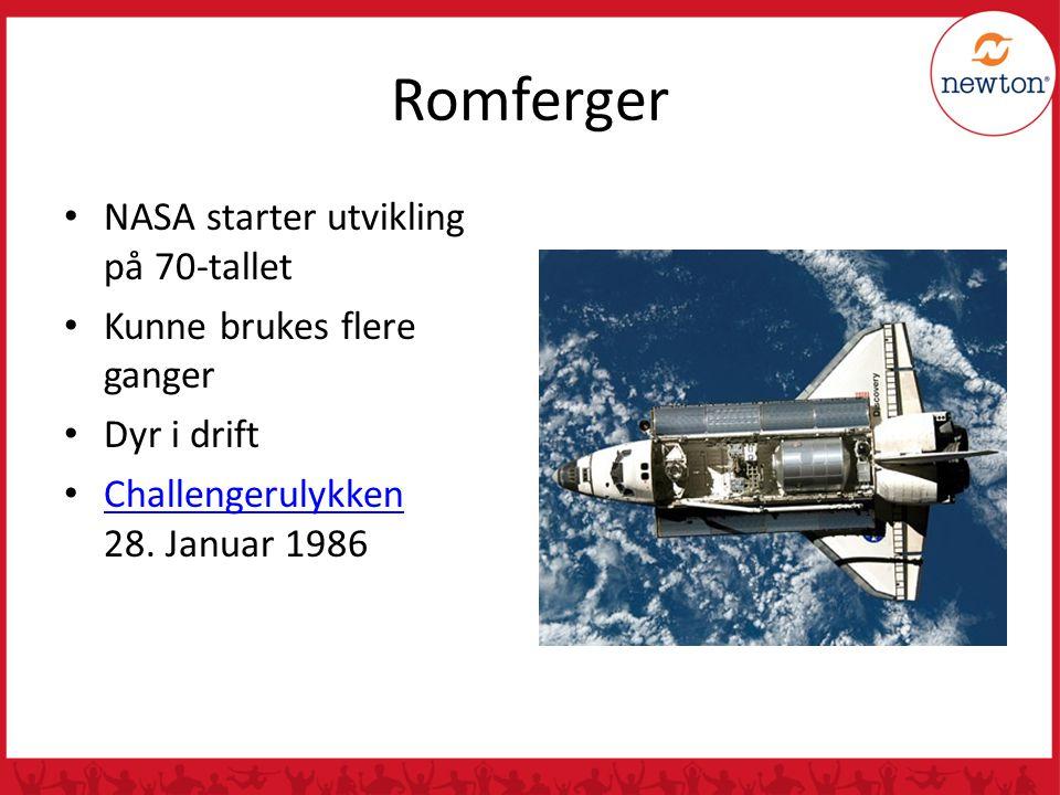 Romferger NASA starter utvikling på 70-tallet