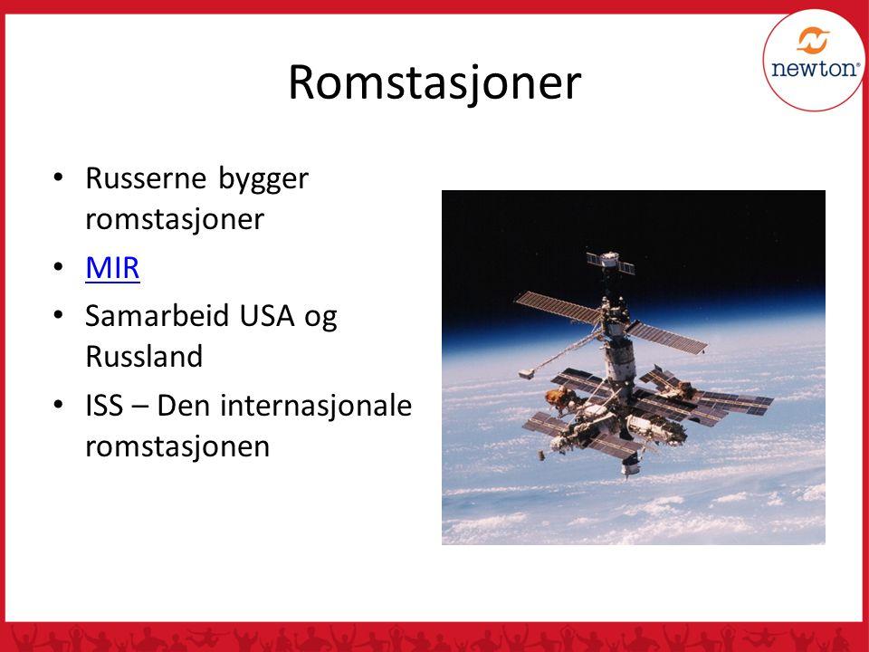 Romstasjoner Russerne bygger romstasjoner MIR
