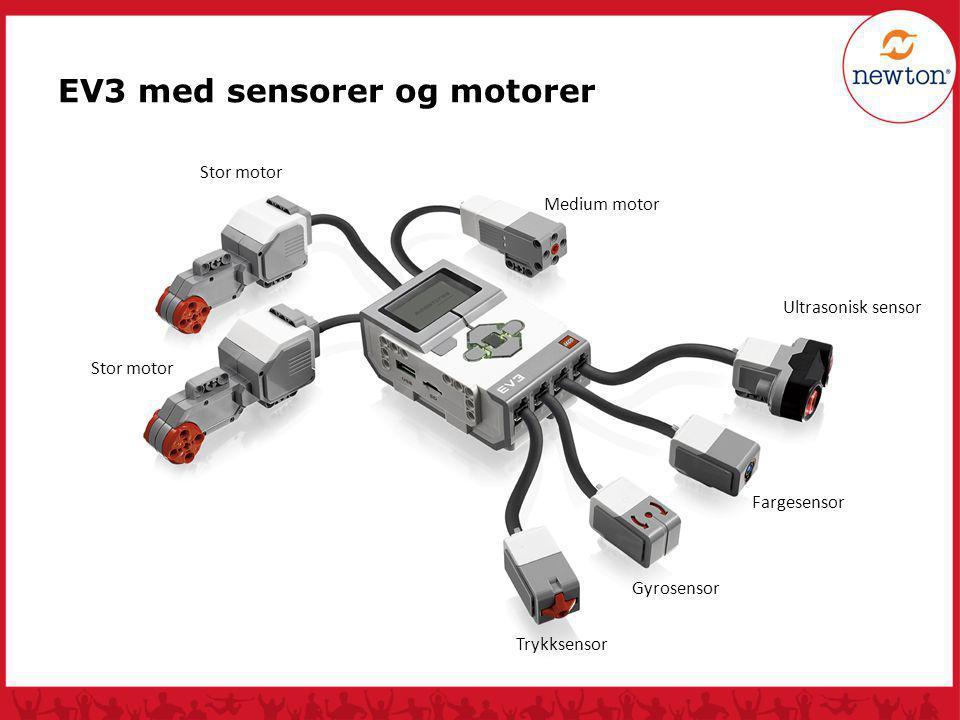 EV3 med sensorer og motorer