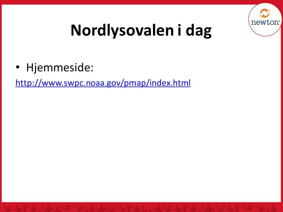 Nordlysovalen i dag Hjemmeside:
