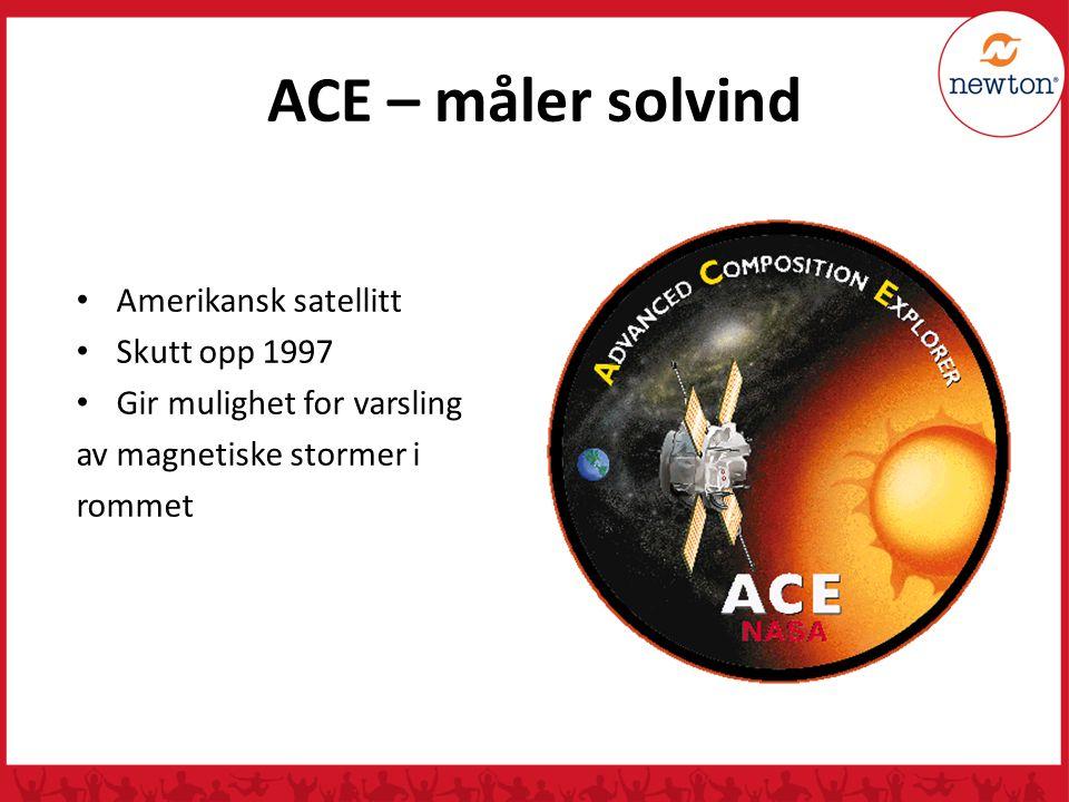 ACE – måler solvind Amerikansk satellitt Skutt opp 1997