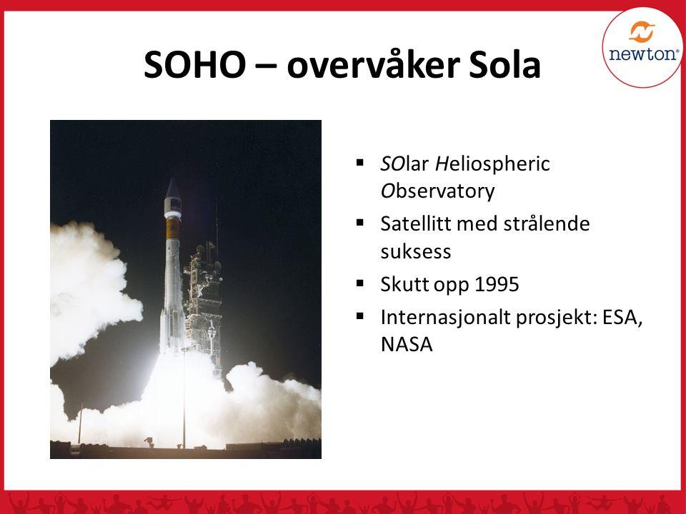 SOHO – overvåker Sola SOlar Heliospheric Observatory