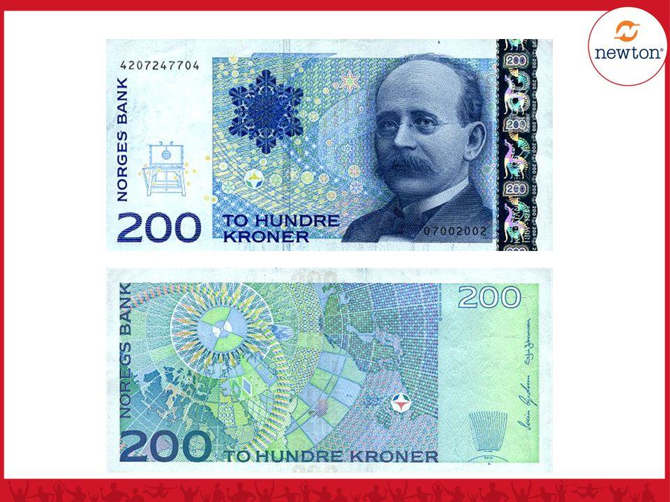 200 kr seddelen er laget til minne om nordlyspionéren Kristian Birkeland (1867-1917), professor i Fysikk ved Universitetet i Kristiania.