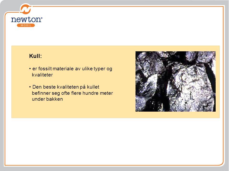 Kull: er fossilt materiale av ulike typer og kvaliteter