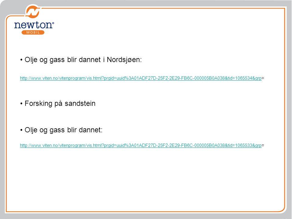 Olje og gass blir dannet i Nordsjøen: