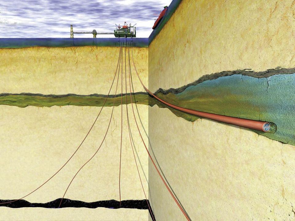 CO2-lagring. Sleipner. Illustrasjon: Norsk Hydro/Statoil