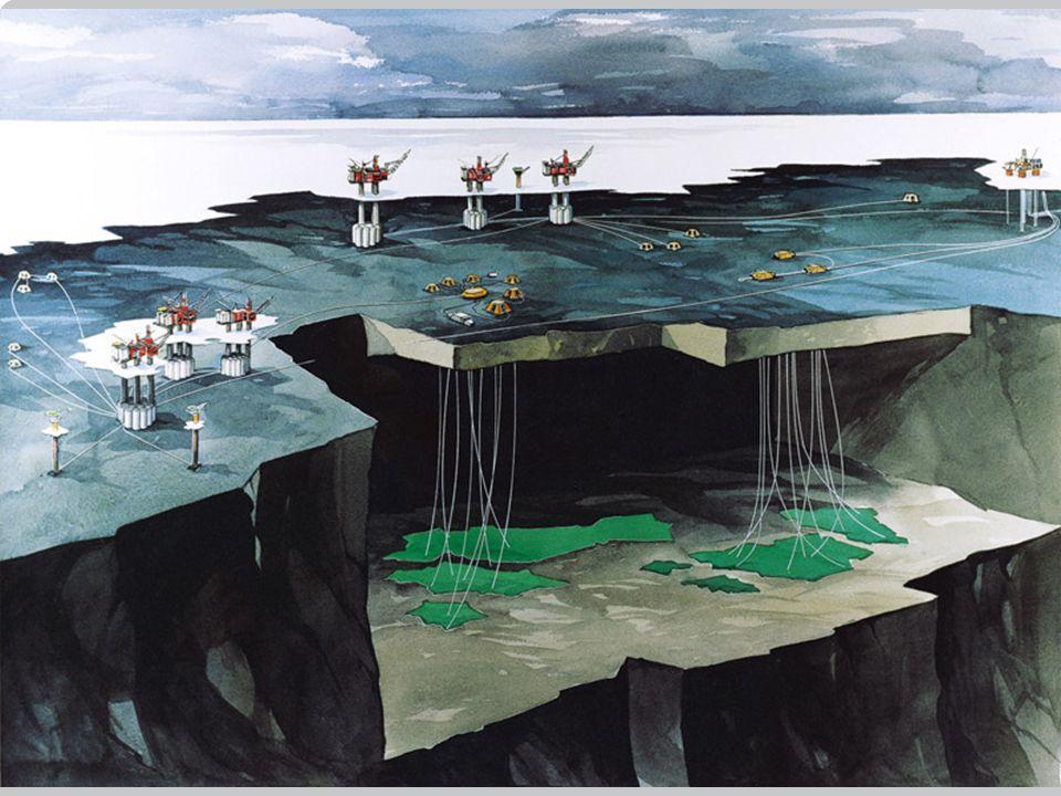 Illustrasjon av Snorre , Vigdis , Tordis. Norsk Hydro/Statoil