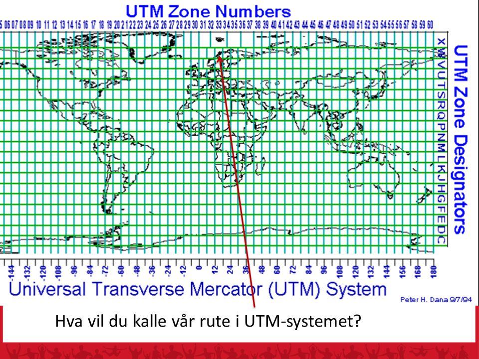 Hva vil du kalle vår rute i UTM-systemet
