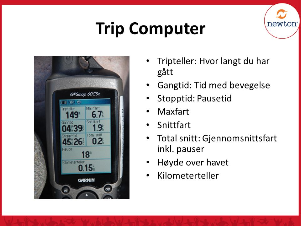 Trip Computer Tripteller: Hvor langt du har gått