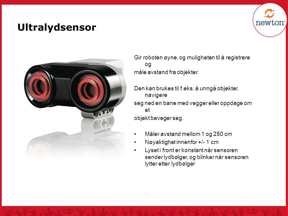 Ultralydsensor Gir roboten øyne, og muligheten til å registrere og