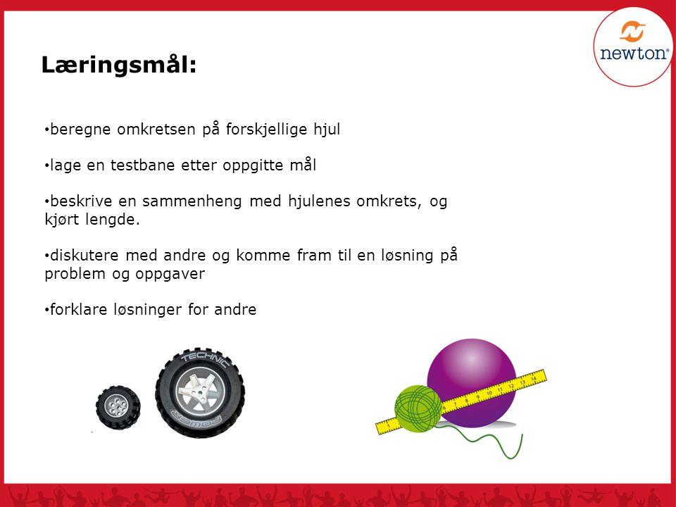 Læringsmål: beregne omkretsen på forskjellige hjul