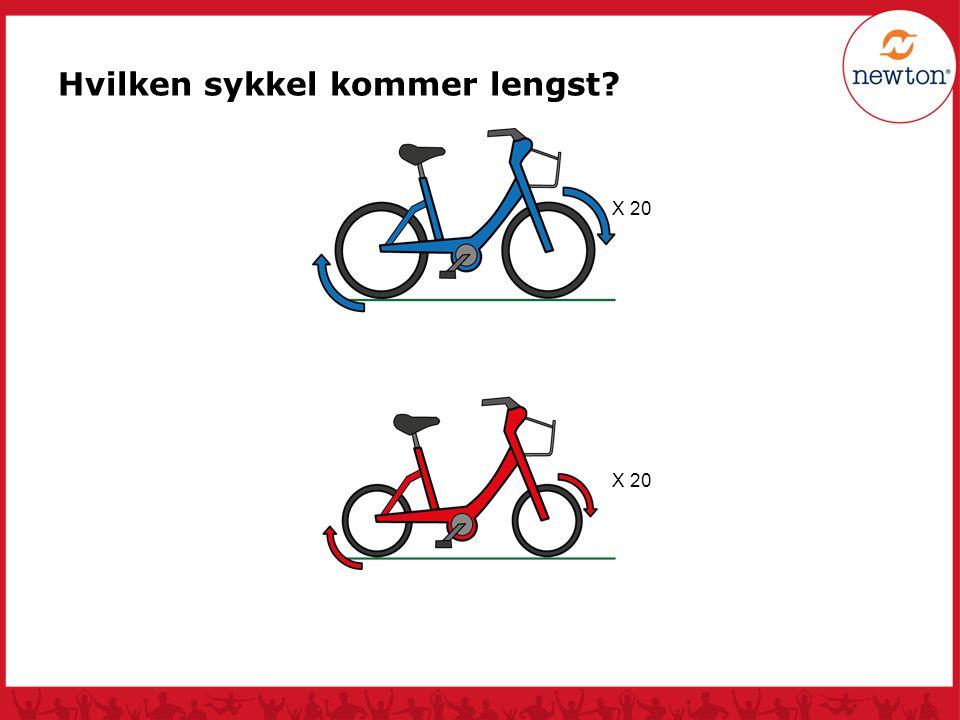 Hvilken sykkel kommer lengst