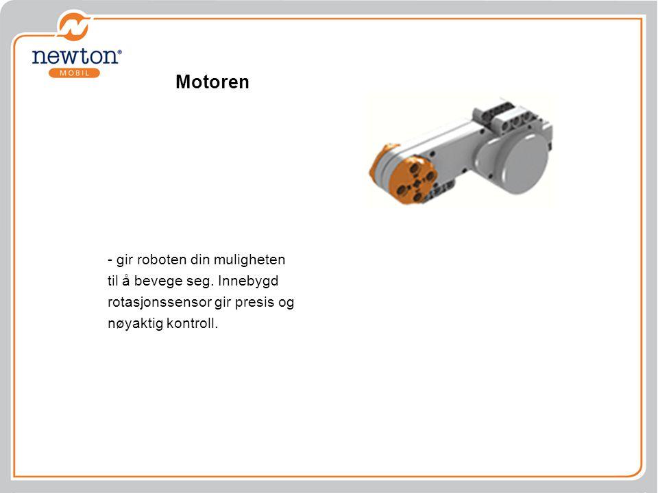 Motoren - gir roboten din muligheten til å bevege seg. Innebygd