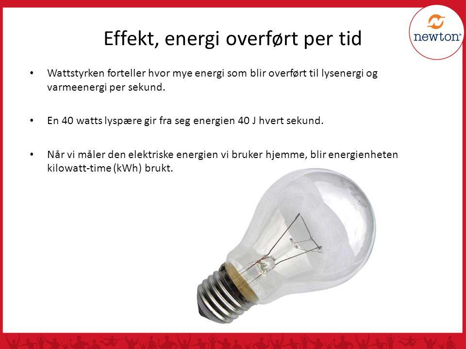 Effekt, energi overført per tid